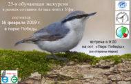 25-я обучающая орнитологическая экскурсия в Уфе